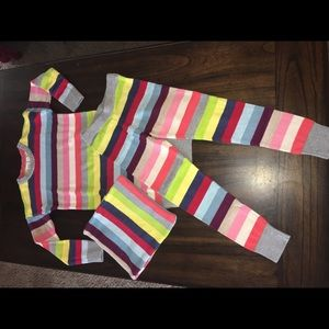 NEW - GAP Kids Crazy Stripes Outfit